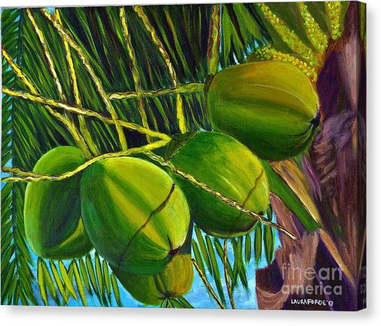 Coconuts At Sunset Canvas Print