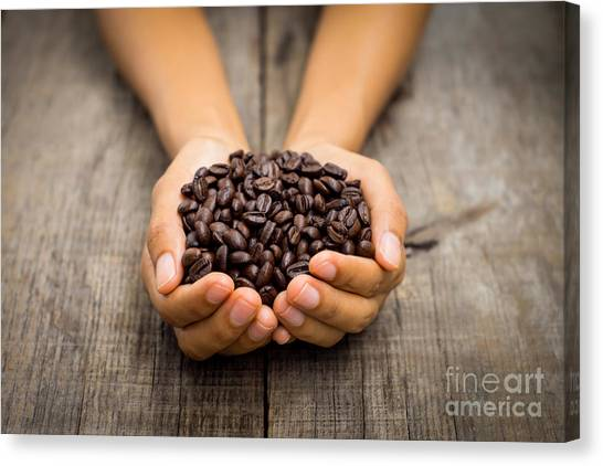 Coffee Canvas Print - Coffee Beans by Aged Pixel