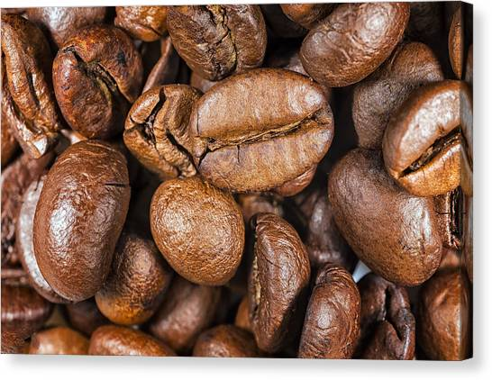 Coffee Beans Detail Canvas Print