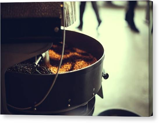 Coffee Roaster In Motion Canvas Print
