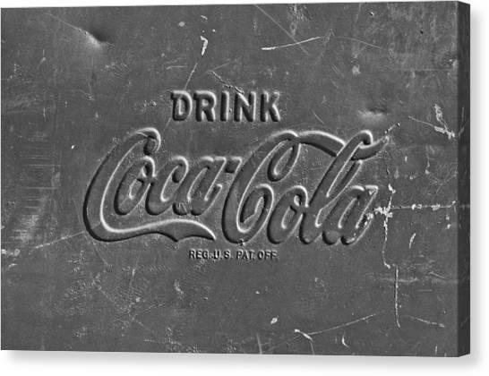 Coca Cola Canvas Print - Coke Sign by Jill Reger