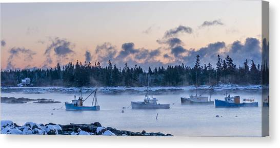 Cold Day In Maine  Canvas Print