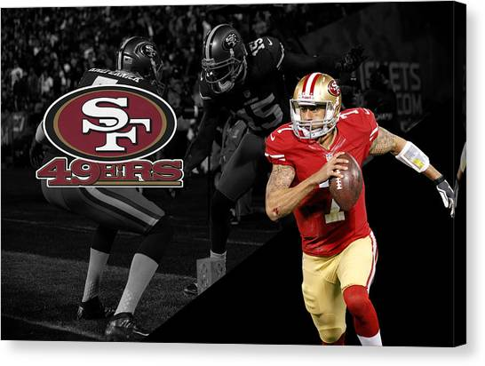 San Francisco 49ers Canvas Print - Colin Kaepernick 49ers by Joe Hamilton