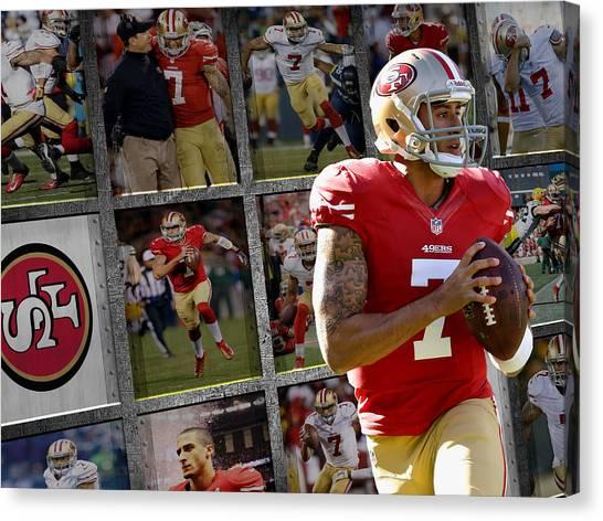 San Francisco 49ers Canvas Print - Colin Kaepernick San Francisco 49ers by Joe Hamilton