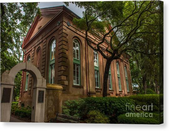 College Of Charleston Campus Canvas Print