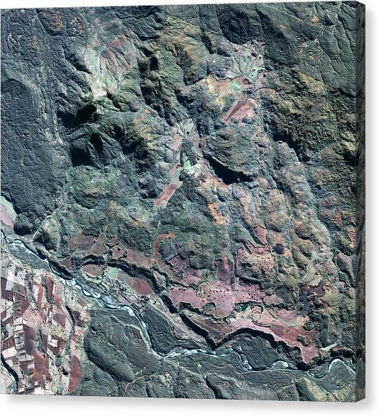 Colonia Dignidad Canvas Print by Geoeye/science Photo Library