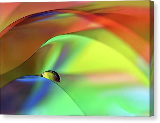 Rainbow Canvas Print - Color Cascade by Heidi Westum