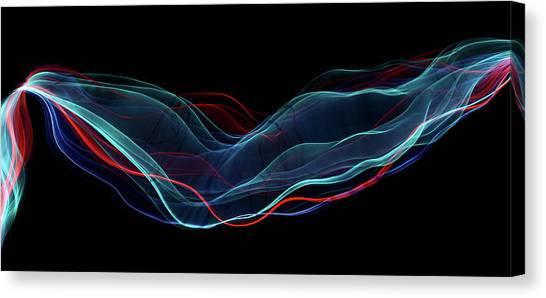 Turquoise Canvas Print - Color Flow by Heidi Westum