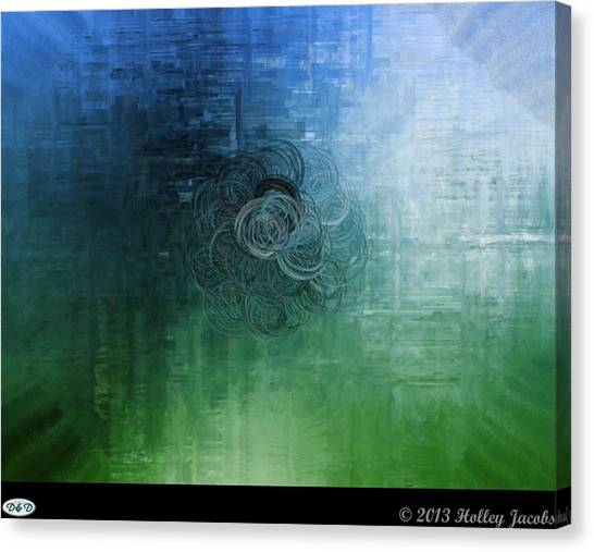 Color Sensation Teal Canvas Print by Holley Jacobs