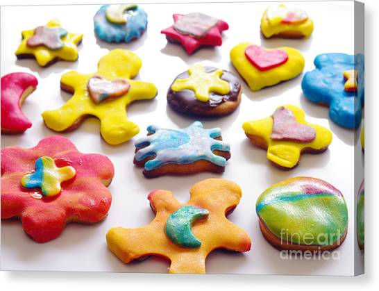 Biscuits Canvas Print - Colorful Cookies by Carlos Caetano
