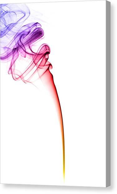 Colourful Canvas Print - Colourful Smoke by Samuel Whitton