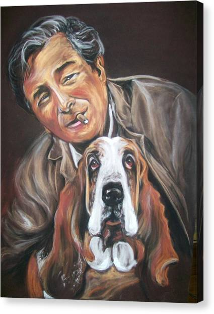 Columbo And Dog Canvas Print
