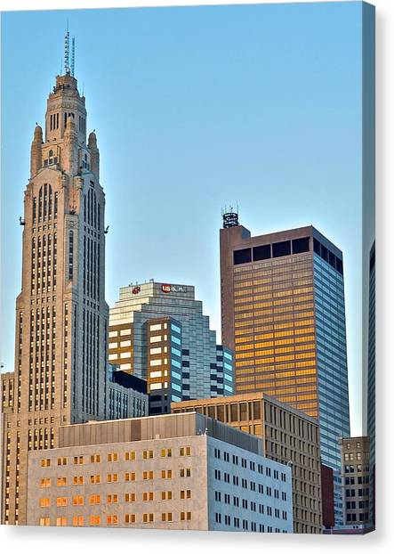 Cleveland State University Canvas Print - Columbus Ohio by Frozen in Time Fine Art Photography