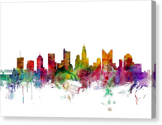Ohio Canvas Print - Columbus Ohio Skyline by Michael Tompsett