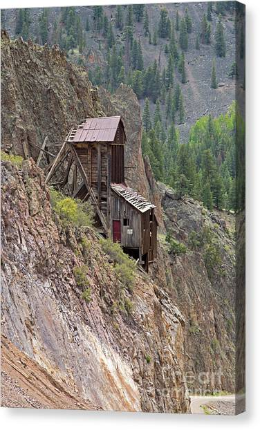 Commodore Mine On The Bachelor Historic Tour Canvas Print