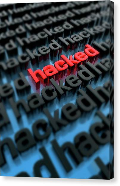 Computer Hacking Canvas Print by Victor Habbick Visions