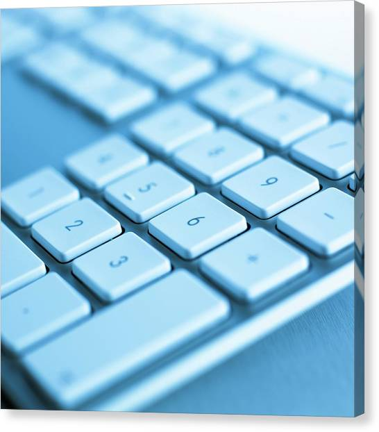 Computer Keyboard Canvas Print by Science Photo Library