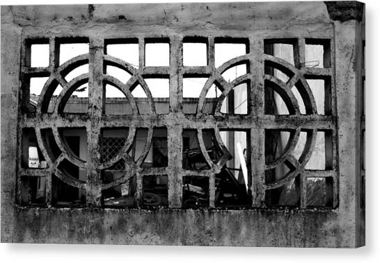 Concrete Window Canvas Print by Christopher Lugenbeal
