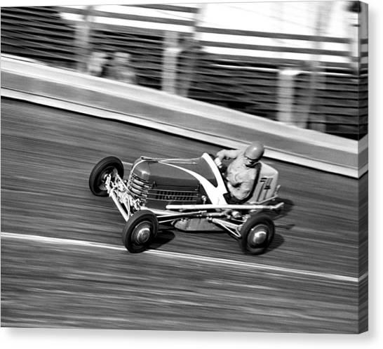 Hard Hat Canvas Print - Coney Island Midget Race Car by Underwood Archives