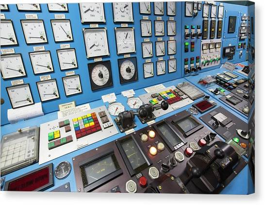 Academic Art Canvas Print - Control Room On Russian Research Vessel by Ashley Cooper
