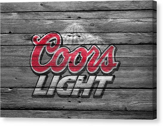 Beer Can Canvas Print - Coors Light by Joe Hamilton