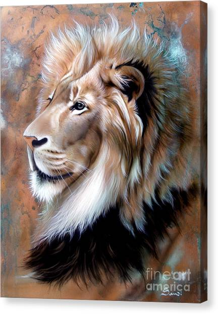Copper King - Lion Canvas Print