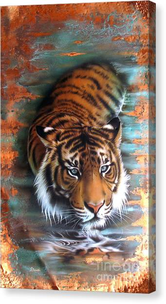 Copper Tiger II Canvas Print