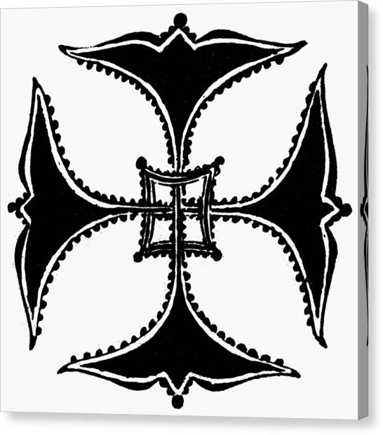 Coptic Art Canvas Print - Coptic Cross by Granger