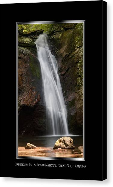 Courthouse Falls North Carolina Canvas Print