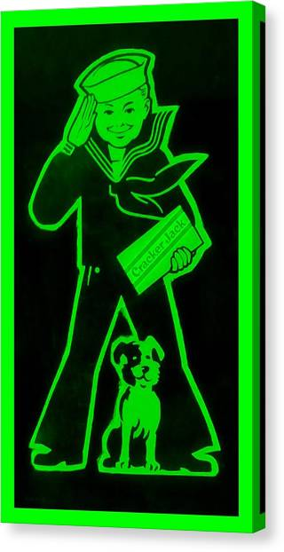 Crackerjack Green Canvas Print