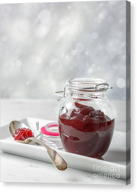 Cranberry Sauce Canvas Print - Cranberry Sauce by Amanda Elwell