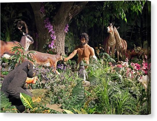 Fundamentalism Canvas Print - Creation Museum Exhibit by Jim West