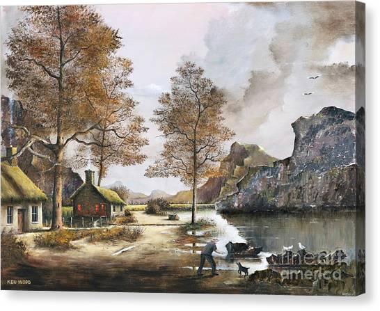 Crofters Cottages Canvas Print