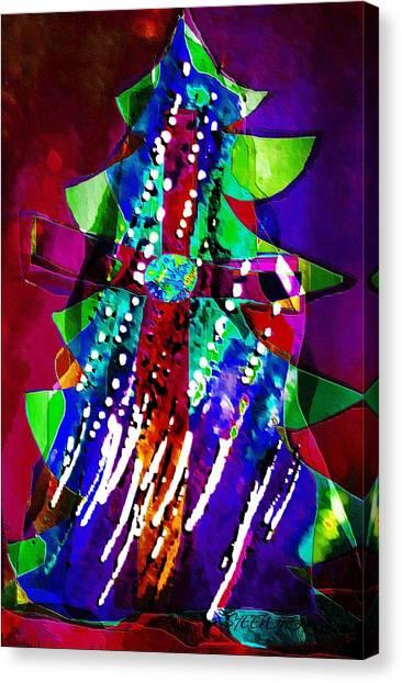 Cross Christmas Tree Canvas Print