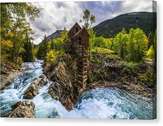 Crystal Mill Canvas Print - Crystal Mill Co by Peter Irwindale