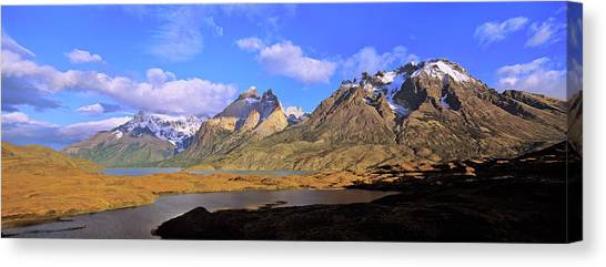 Andes Mountains Canvas Print - Cumbres, Torres And Cuernos Del Paine by Martin Zwick