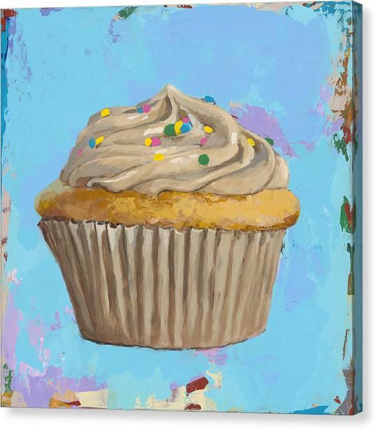 Birthday Canvas Print - Cupcake #1 by David Palmer