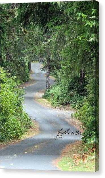 Curves Into Leadbetter Point State Park II Canvas Print