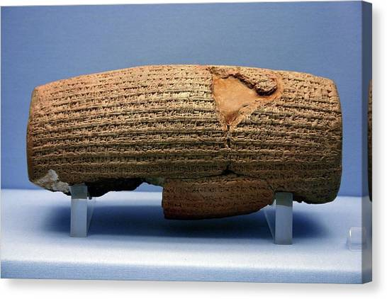 The British Museum Canvas Print - Cyrus Cylinder by Babak Tafreshi/science Photo Library