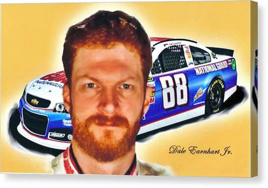 Dale Earnhardt Jr Canvas Print - Dale Earnhardt Jr. by William Cox