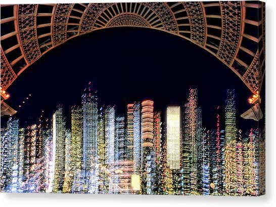 Dallas At Night Canvas Print