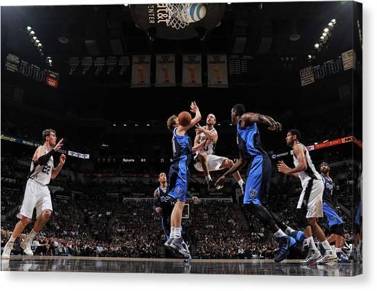 Dallas Mavericks V San Antonio Spurs - Canvas Print