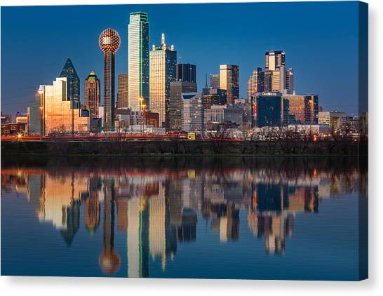 Dallas Canvas Print - Dallas Skyline by Mihai Andritoiu
