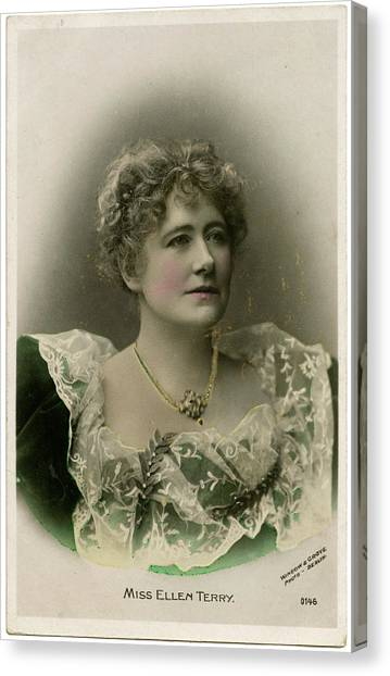 Dame Ellen Alice Terry (1847 - 1928) Canvas Print by Mary Evans Picture Library
