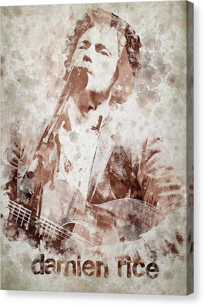 Clarinets Canvas Print - Damien Rice Portrait by Aged Pixel