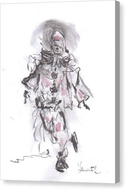 Dancing Clown Canvas Print