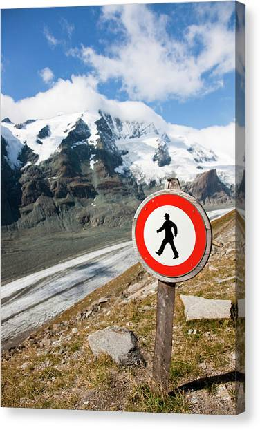 Pasterze Glacier Canvas Print - Danger Zone Alps And Mountains by Martin Zwick