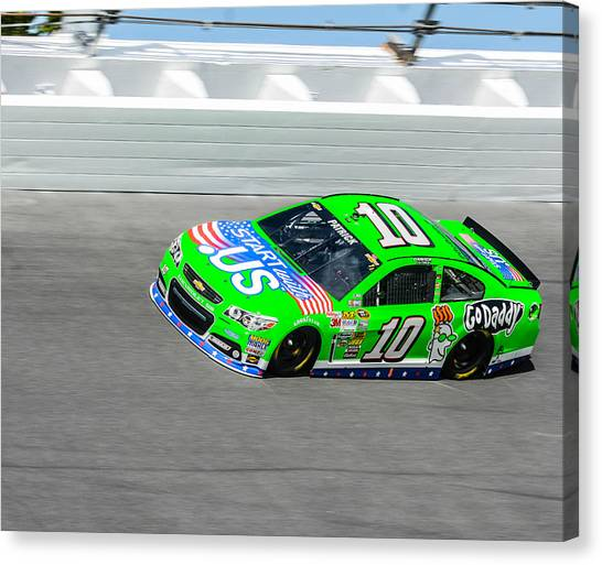 Stewart-haas Racing Canvas Print - Danica by Jason Loving