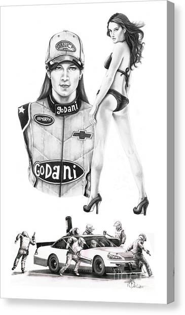 Danica Patrick Canvas Print - Danica Patrick by Murphy Elliott