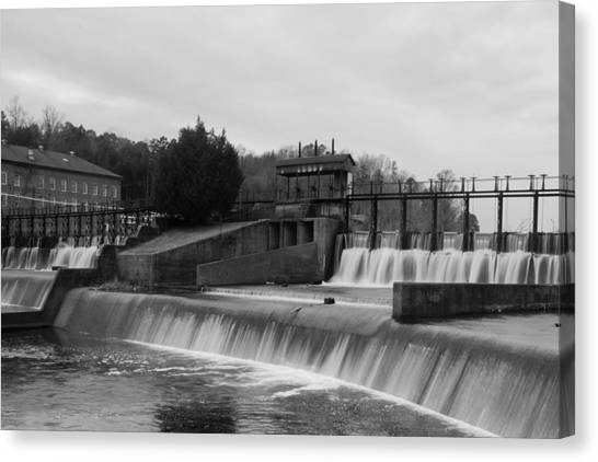 Daniel Pratt Cotton Mill Dam Prattville Alabama Canvas Print